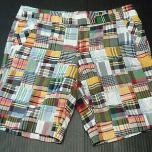 J Crew City Fit Plaid Walking Bermuda Shorts Sz 8